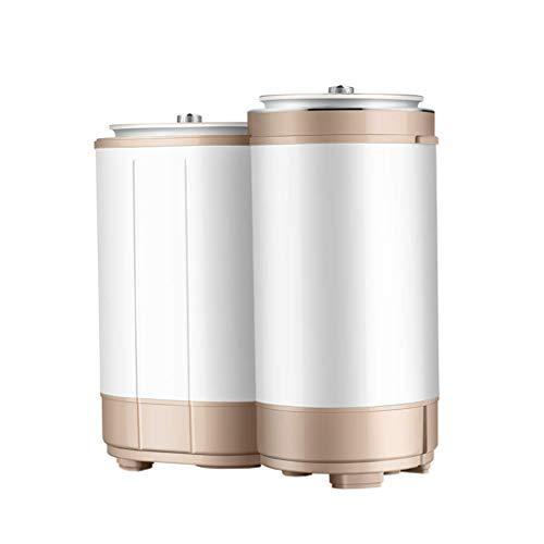 ZXYY Lavadoras portátiles Barril Doble Cilindro Doble Lavadora para niños Lavadora semiautomática para baño en el hogar Balcón 3.0 kg / 6.6 LB Capacidad de Lavado