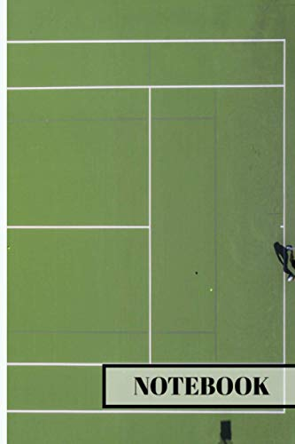 """TENNIS NOTEBOOK: Tennis notebook or journal with 120 lined Pages 6"""" x 9"""" perfect for everyday use 