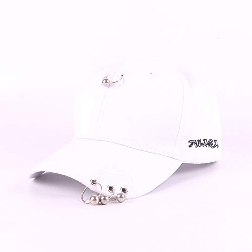 sdssup Sombrero Gorra Masculina de Verano Gorra de béisbol Deportes Ocasionales Gorra Neta Sombrero Mujer Algodón Blanco 3-7 años Modelos Infantiles (50-54cm)