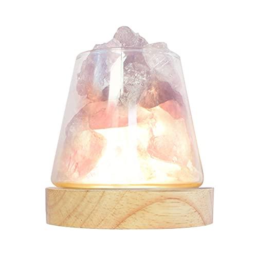Lampada da tavolo in cristallo di sale con diffusore di aria ricaricabile di terapia dell'aroma