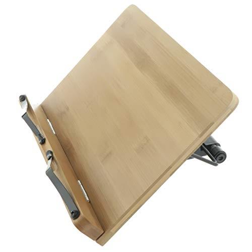 Einstellbarer Buchständer Buchhalter Buchstütze Tischdeko für Kochbuch Noten Handy Laptop usw. Geschenk zum Kindern und Freunden - 39 x 28 cm