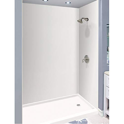 Transolid Expressions 36-in X 60-in X 96-in Glue to Wall Tub/Shower Wall Kit in White