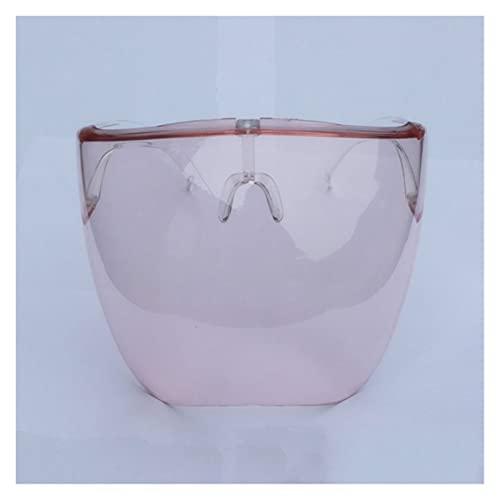 SFQRYP Gafas protectoras para hombre y mujer, gafas de seguridad, antipulverización, gafas de sol de cristal (color del marco: otros, color de las lentes: todo rosa)