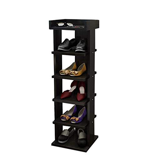 MFWallMirror Shoe Rack Schoenrek hout MDF plank Slipper rek Plantenrek 30 cm breed zwart Zaal/woonkamer/slaapkamer