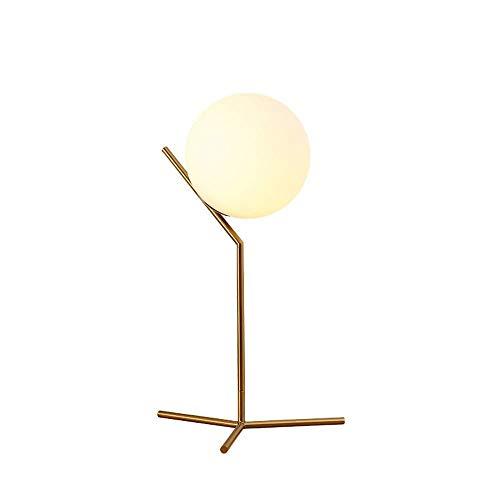 Lámpara de mesa Estilo nórdico simple personalidad moderna creatividad tornillo universal lámpara alta pantalla de cristal lámpara de hierro sala de estar de aprendizaje habitación de hotel lámpara de