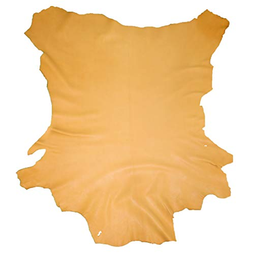 Glacier Wear First Quality Buckskin Leather - Squash Blossom (7.00 to 7.75 sq ft)