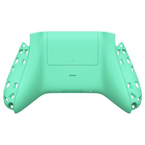 eXtremeRate Carcasa Trasera para Xbox Series S X Control Funda Tacto Suave Protector con Placa de Batería Cubierta Posterior para Xbox Series S X Mando-No Incluye Shell de Grip(Menta Verde)