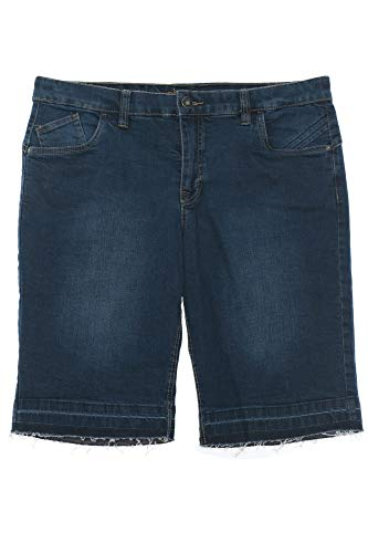 Sheego Caprijeans Jeans Hose Sommerhose Bermuda Short Damen Stretch Plusgröße, Farbe:dunkelblau, Damengrößen:46