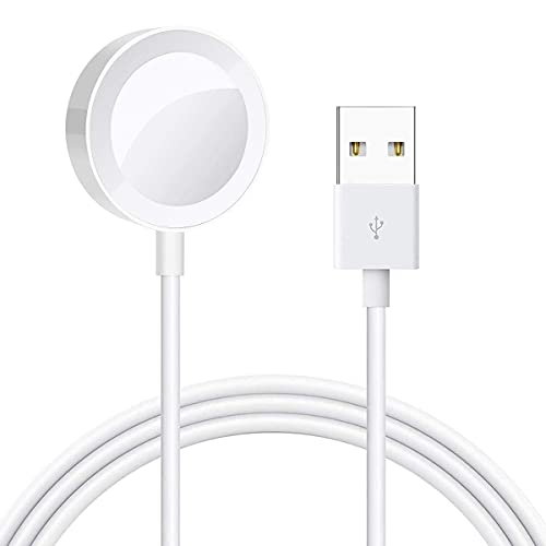 Watch Charger Magnetic Charging Cable for iWatch Portable Wireless Charging Cord Compatible with Apple Watch Series Se,6,5,4,3,2,1 (1M)
