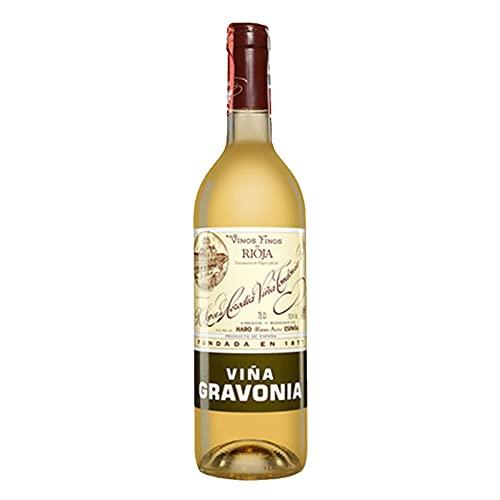 Vino Blanco Viña Gravonia Crianza de 75 cl - D.O. La Rioja - Bodegas R.Lopez de Heredia (Pack de 1 botella)