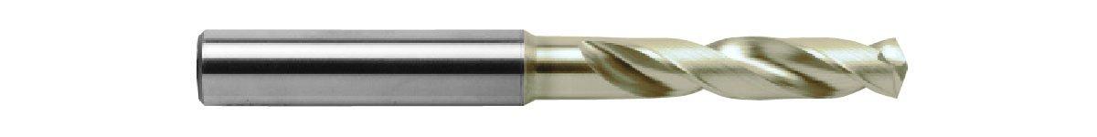NACHI L7572P 3.61 Powered Metal High Speed Steel Stub Drill 1.97 Length 0.16 Shank Diameter Round Shank SG Coated Finish