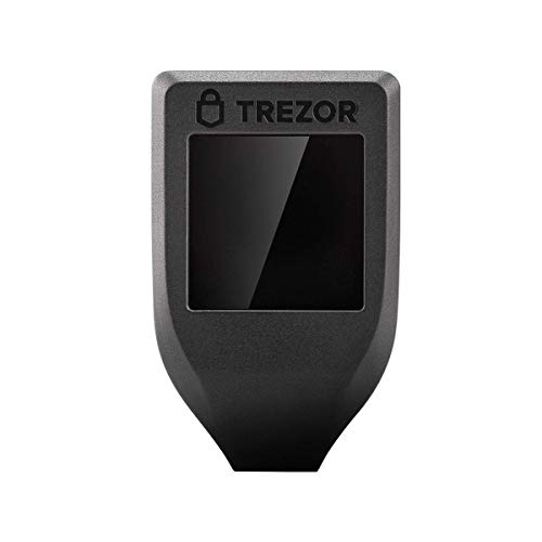 Trezor Modello T Hardware Ethereum Bitcoin Litecoin Dash NEM Zcash Criptovaluta Portafoglio–Nero