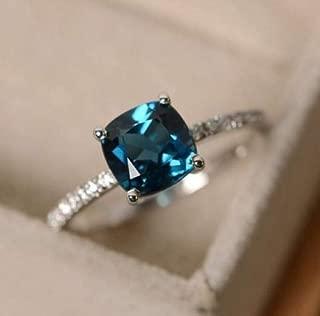 Ploy Pailin (Peacock Sapphire) 925 Silver Sapphire Gem Birthstone Diamond Wedding Engagement Ring Wholesale (6)