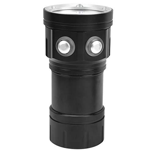 Linterna de buceo, Linterna de buceo portátil Scubas, Linterna LED impermeable, Iluminación subacuática Lámpara submarina impermeable