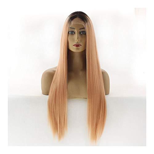 Xiequn Perruque longue droite avec dégradé de couleur