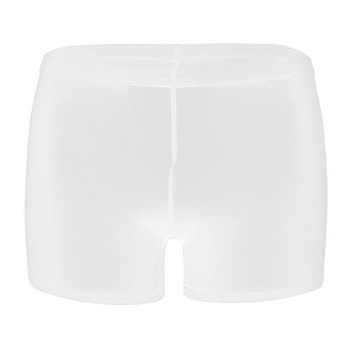 FEESHOW Frauen Erotik Dessous Lingerie Transparent Ouvert Unterwäsche Schlüpfer Boxer Shorts sexy Nachtwäsche Underwear Weiß One Size
