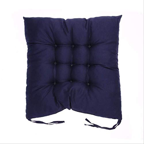 NV Microfiber Chair Pad Seat Cushion, Soft Comfortable Cotton Seat Cushion, Winter Office Bar Chair Cushion, Patio Indoor Outdoor Chair Pads 50x50cm Navy Blue