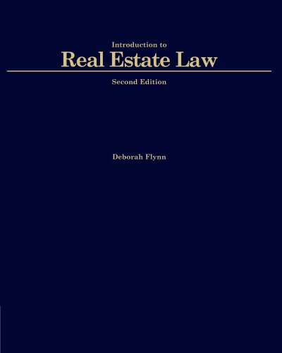 Intriduction to Real Estate Law (Black Letter (Thomson West))