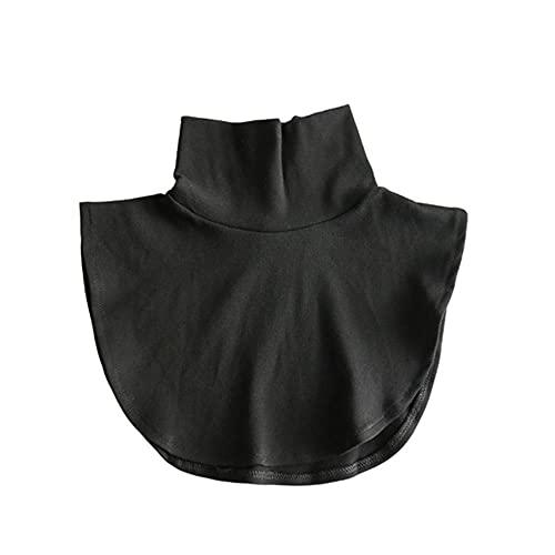 Vrouwen Katoen Kant Nep Kraag Blouse Vintage Afneembare Kraag Valse Kraag Revers Blouse Top Vrouwen Kleding Accessorie-coltrui zwart, CN