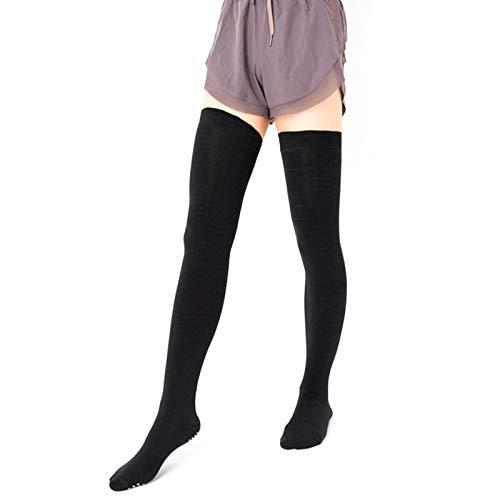 Labuda Calcetines hasta la Rodilla para Yoga, Medias Negras Calcetines de algodón para Yoga, para el hogar, al Aire Libre, Regalos de Viaje