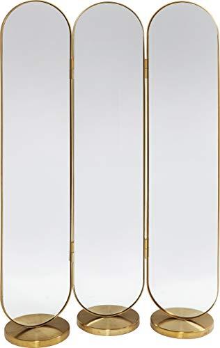 Kare Design Paravent Swing, goldener Raumtrenner als Spiegel, abgerundete Form und edles Design, (H/B/T) 166x106x31cm
