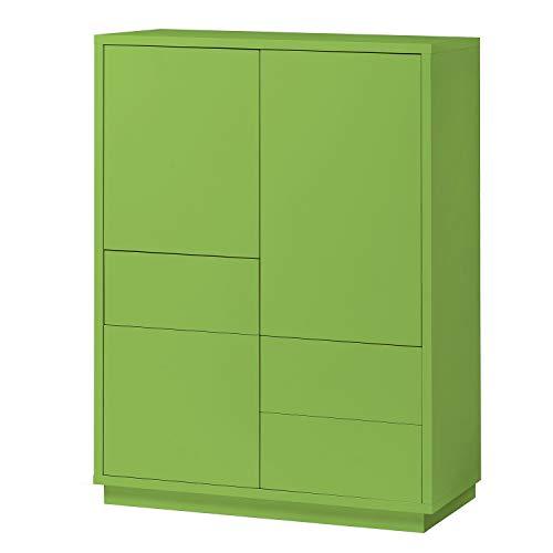 Highboard Eyecatcher Kommode Sideboard Anrichte Blickfangmöbel mit Farbauswahl, Farbe:Grün
