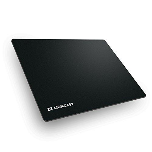 Lioncast Buff Gaming Mauspad/Gamer Mauspad (400mm x 300mm, Stoff) schwarz/Black – perfekte Gaming Performance und ultimativer Grip auf jeder Fläche