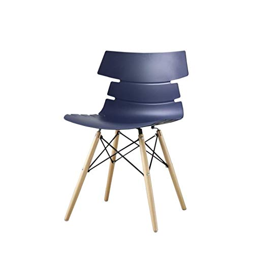 JJZXD Repas rétro Moderne chaises Durable PP Dossier avec Les Jambes en Bois Massif, chauffeuses for la Cuisine