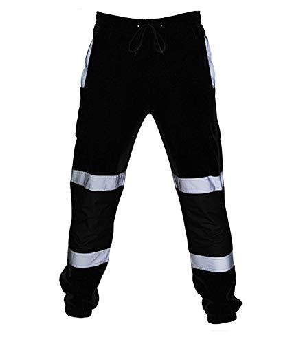 Hombres Traje de Trabajo en la Calle Pantalones de Trabajo de Cintura elástica de Alta Visibilidad Pantalones de Trabajo