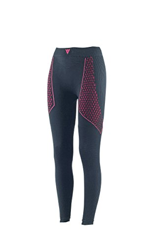 Dainese-D-CORE THERMO PANT LL LADY, Schwarz/Fuchsia, Größe XS/S