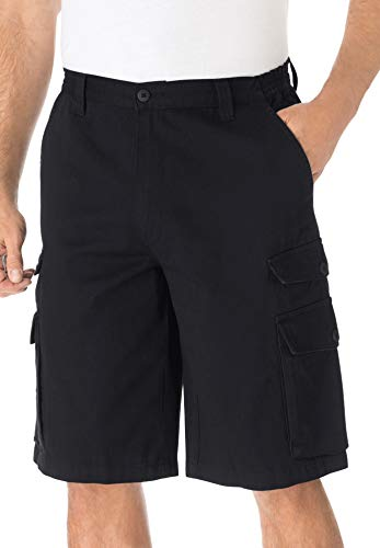 KingSize Men's Big & Tall 12' Cargo Shorts - Big - 46, Black