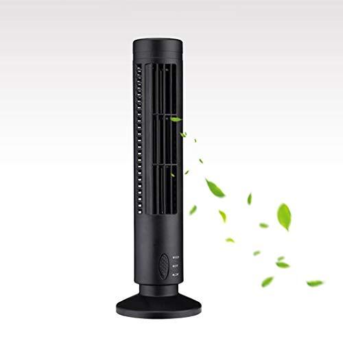 Olodui1 Mini USB Ventilador de Torre sin Hojas portátil Ventilador de enfriamiento de Escritorio de 2 velocidades para Oficina en casa Ventiladores