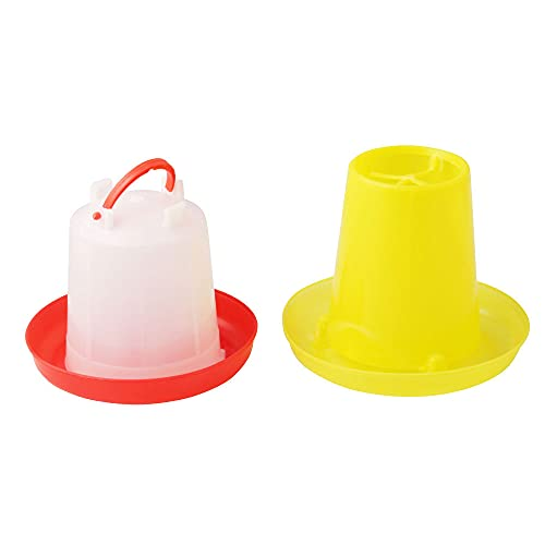 Tylu Chick Feeder and Waterer Kit Chicken Farming Equipment (1.5L Waterer and 1.5L Feeder Kit)