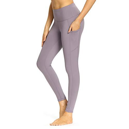 Mesily Yaga Pants for Women High Waist Leggings Pants with Pockets - Women Tummmy Control Workout Gym Running Leggings for Women Lavender