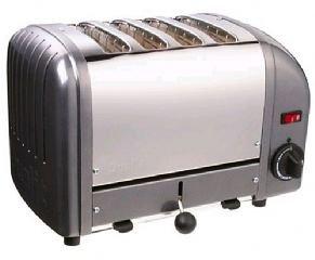 Dualit Toaster 40348 grau 4 Schlitze