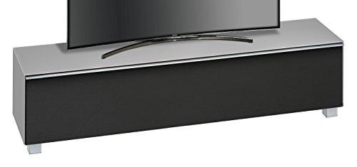 MAJA Möbel SOUNDCONCEPT Glass 7738 Soundboard, Abmessungen (BxHxT):180,20 x 43,30 x 42 cm, Glas marmorgrau matt-akustikstoff schwarz, 20 x 42 x 43,30 cm