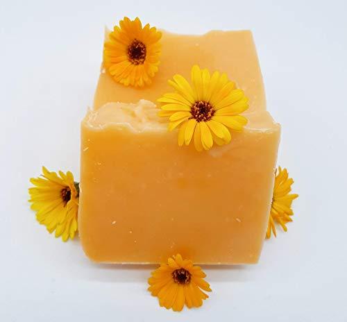 Ringelblumenhaarseife – für trockenes, lockiges, strapaziertes Haar, vegan, ohne Palmöl, handgemachte Naturseife, Haarseife von kleine Auszeit Manufaktur