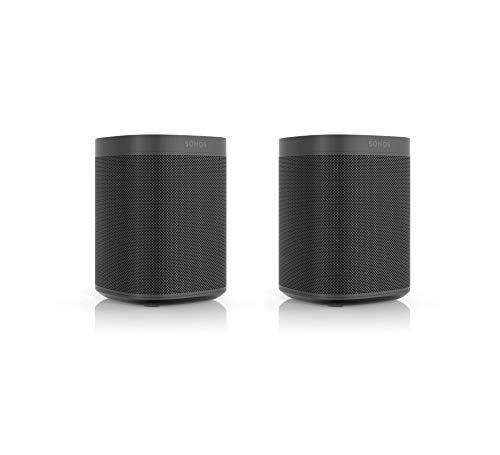 Sonos One SL Smart Speaker | 2-Raum-Set (Kraftvoller Sound, WLAN Streaming mit Multiroom und App Steuerung sowie AirPlay2) - Zwei Speaker für unbegrenztes Musikstreaming (schwarz)