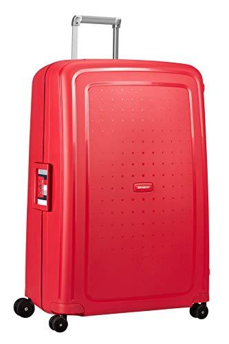 Samsonite S'Cure - Spinner Equipaje de Mano 81 Centimeters 138 Rojo (Capri...