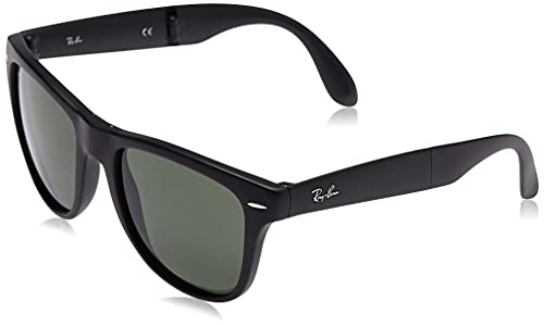 Ray-Ban RB4105 Folding Wayfarer - Gafas de sol unisex, color negro, talla S