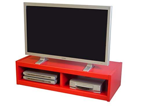 Berlioz Creations B506 Meuble TV, Rouge 116 x 51 x 31 cm, Fabrication 100% Française