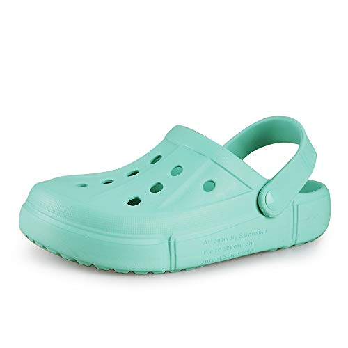 XIANV Men Women Clogs Garden Shoes Mesh Slippers Sandals Lightweight Slip On Mules Outdoor Walking Slippers Unisex Summer Beach Shoes Blue Green Numeric_5_Point_5