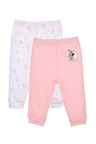 Set de 2 leggings en coton bébé fille, Rose, 12 mois