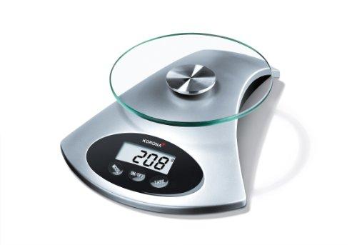 Korona-Küchenwaage Sandy 76120 I Elektrisch I 5kg Tragkraft I Silber