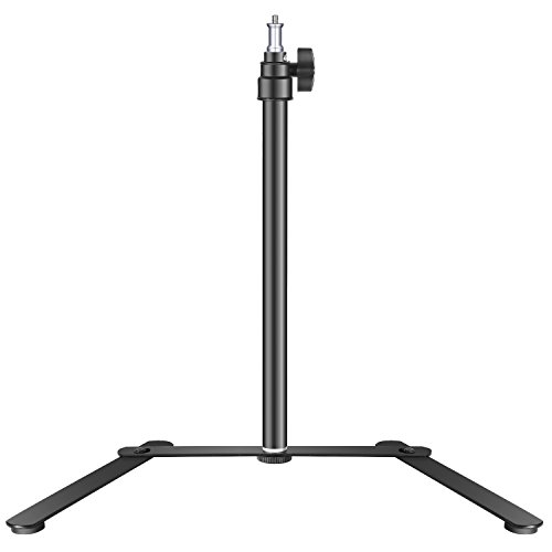 Neewer Tabletop Light Stand Base for LED Panel and Ring Light, 15.4-27 inches Adjustable Support Bracket for Lights up to 14 inches Only Suitable for Portrait, YouTube Photography Video Shooting