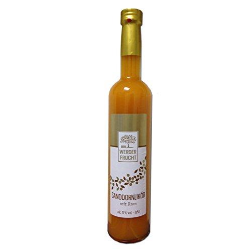 Sanddornlikör mit Rum 0,5 l Sanddorn Likoer 17% vol.