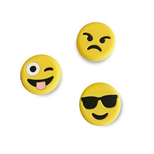 4MA - Juego de 3 amortiguadores de tenis, diseño de emoji