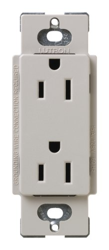 Lutron SCR-15-TP Satin Colors 15A Electrical Socket Duplex Receptacle, Taupe