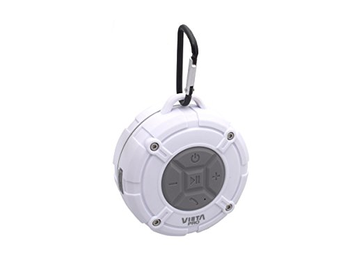 Vieta Pro Orbed - Altavoz inalámbrico portátil Impermeable, con Ventosa de fácil Agarre y Resistente al Agua, Sumergible hasta 10 Metros, con Bluetooth, función de Voice Call y Radio FM incluida.