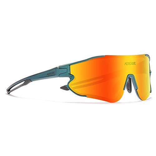 Gafas de Sol Deportivas Polarizadas, Gafas de Bicicleta, Gafas de Bicicleta con Lente Anti-Uv400 para Ciclismo, Conducción, Conducción,03